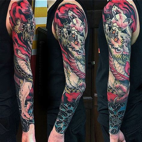 tattoo oriental sleeve 120 japanese sleeve tattoos for men masculine design ideas