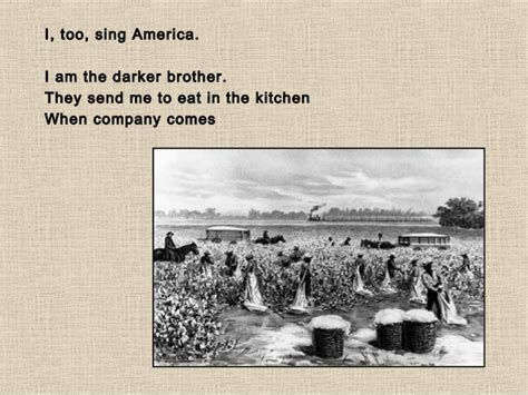 I Sing America Analysis Essay by I And Langston Hughes