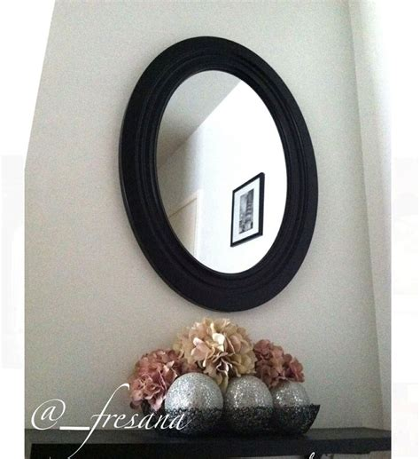 upstairs hallway table with mirrors and plants big oval mirror above hallway entrance table used artificial
