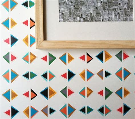 temporary wallpaper for renters 1000 ideas about triangle print on pinterest geometric