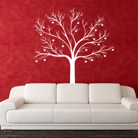 heart wall stickers for bedrooms heart tree love bedroom modern wall art sticker stickers