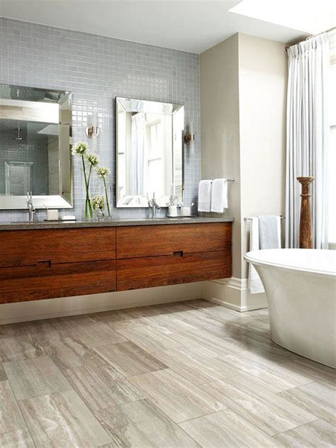 bathrooms with wood tile floors tile wood floor for bathroom