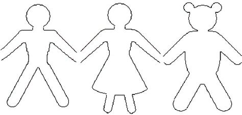 cut out person template paper dolls