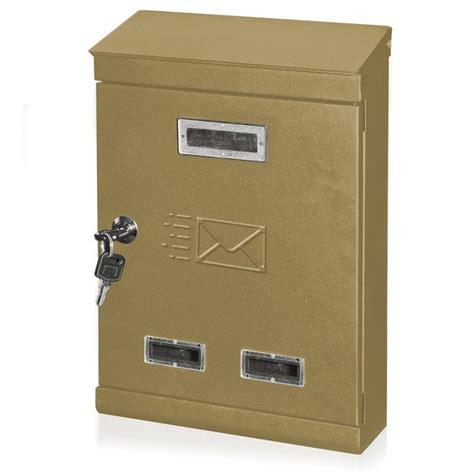 cassette postali da esterno cassetta postale da esterno 22x7 5xh32cm 732a oro