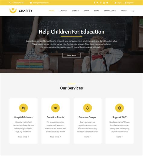 joomla non profit templates 10 of the best church charity non profit joomla