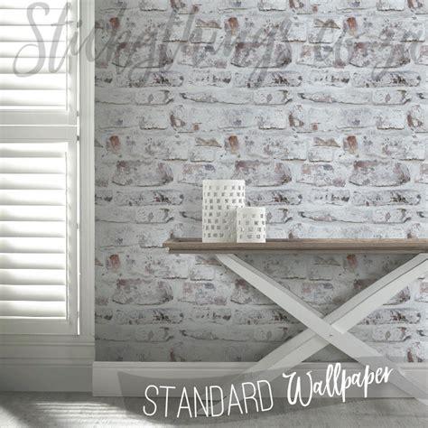 whitewashed brick wallpaper white washed mural