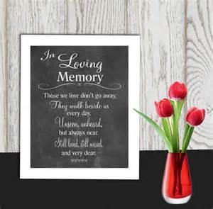 memory poem template memorial sign printable in loving memory print wedding