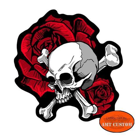 skull bones amp roses patch lady rider jacket vest amt