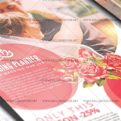 Wedding Planner Flyer by Wedding Planner Premium A5 Flyer Template