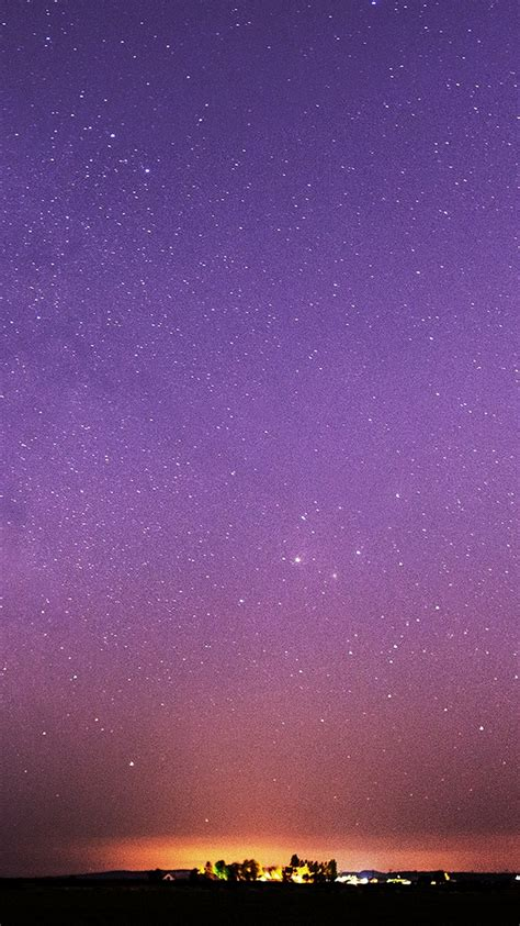 purple starry sky iphone  wallpaper hd
