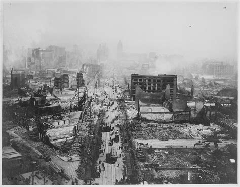 earthquake of 1906 file the ruins of san francisco still smoldering after