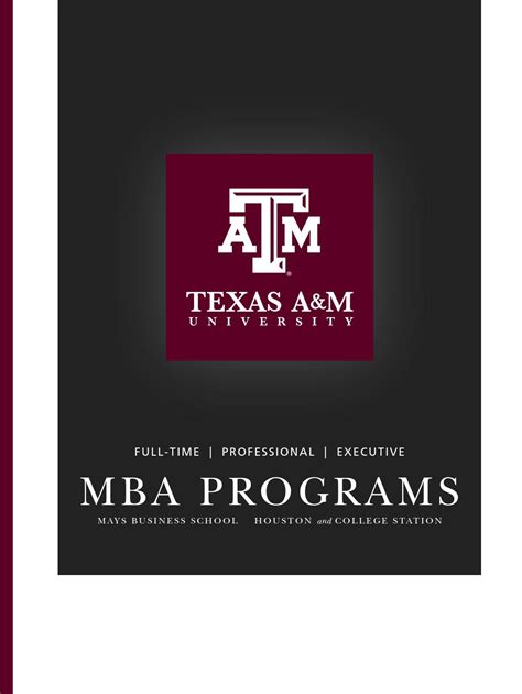 Executive Mba Programs In Houston by Ftmba Brochure By Mays Business School Issuu