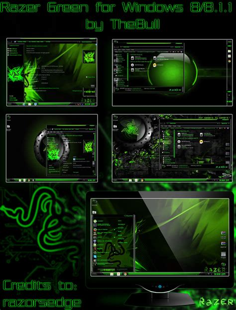 games themes download for windows 8 1 razer green theme for win8 8 1 skin pack customize
