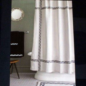 navy blue shower curtain target thomas o brien floral ribbon navy blue black ivory fabric