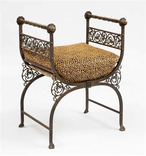 rot iron bench savonarola bronze wrought iron hall bench