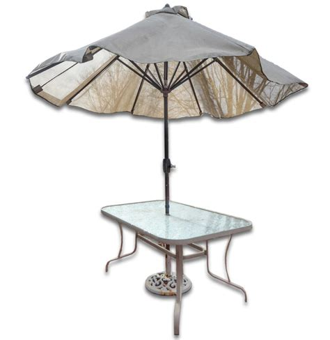 Patio Table Parasol Patio Table With Umbrella Ebth