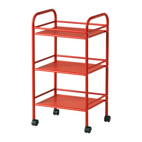 ikea storage cart draggan cart red ikea