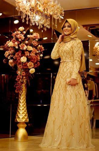 Gaun Pesta Warna Metalic Purple 8 model baju muslim untuk pesta pernikahan tercantik