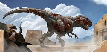 zombie dinosaur dinosaur cowboys tabletop skirmish game