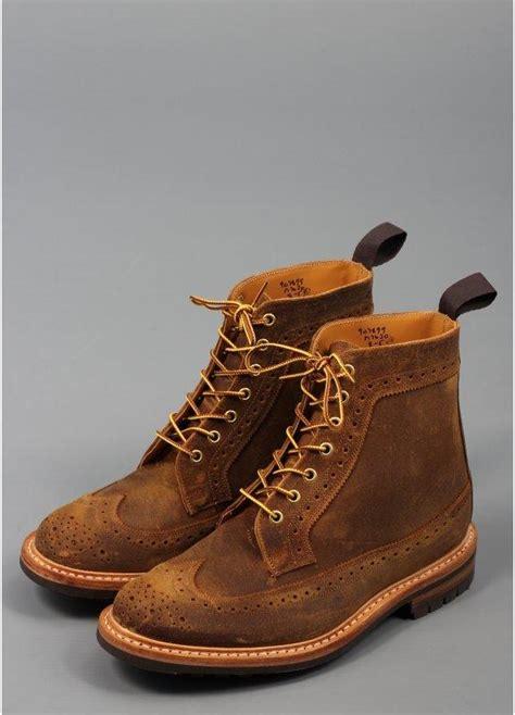 trickers for triads cuba wax golosh longwing brogue boots