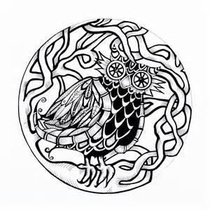 celtic owl laura stenhouse art