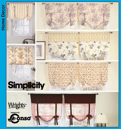 simplicity 5390 sewing pattern tie up shades by simplicity 5390