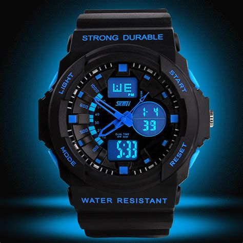 Montre Led Analog Digital Jam Tangan Pria Waterproof skmei jam tangan anak ad1061 orange jakartanotebook