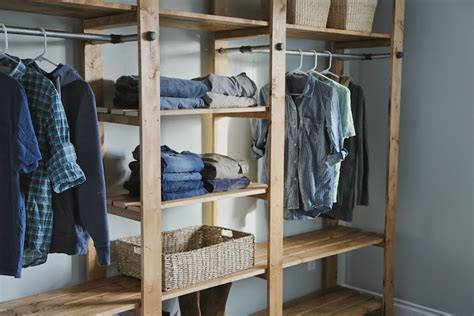 Diy Closet by Diy Industrial Style Wood Slat Closet System With