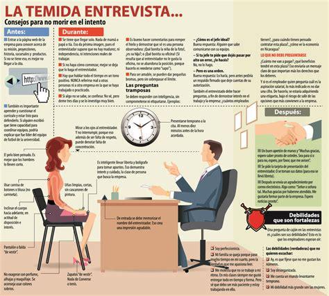 preguntas entrevista de trabajo mexico c 243 mo no morir en una entrevista de trabajo infografia