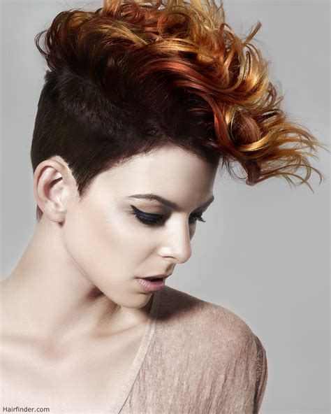 hot styling mohawks girl s mohawk with short clipped sides punk hairstyle