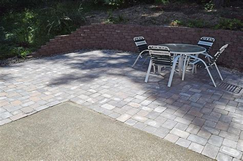 concrete pavers patio west olympia paver patio extension ajb landscaping fence
