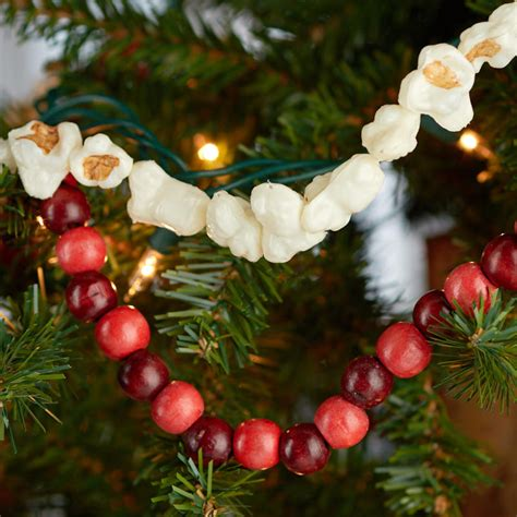 artificial popcorn cranberry garland faux popcorn and cranberry garland set new items