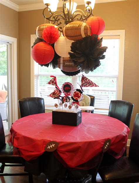 football themed decorating ideas pin by leslie mcdaniel on i made that