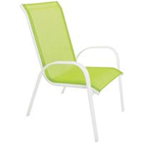 Green Sling Patio Chairs by White Steel Stacking Sling Chair Do It Best