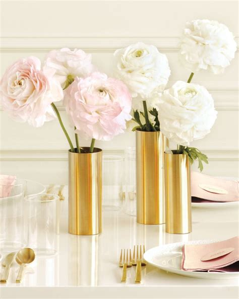 Gold Vase Wedding Centerpiece by Wrap Inexpensive Metal Sheets Around Plain Glass Vases To