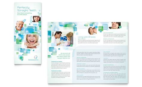 orthodontist dentist brochure postcard and flyer