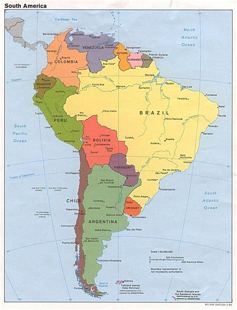 detailed america map maps of south america and south american countries