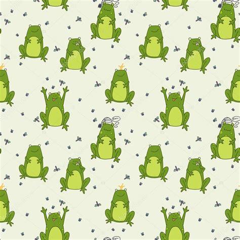 imagenes fondo de pantalla ranas patr 243 n con ranas de divertidos dibujos animados archivo