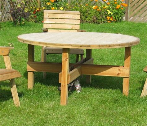 circular wooden kitchen table circular garden table and reclining chairs in leeds