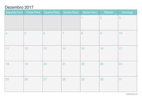 Calendario Dezembro Calend 225 Dezembro 2017 Para Imprimir Icalend 225 Pt