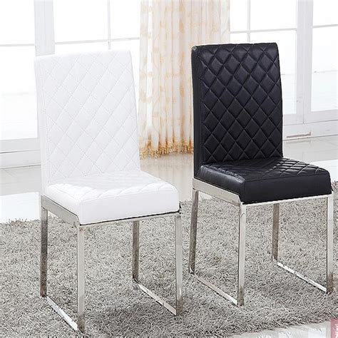 New Fashion Leather Dining Chair Living Room Furniture 100 Stainless Steel Dining Room Chairs
