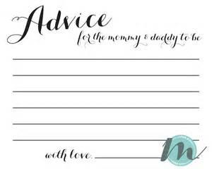 Custom baby shower invitation advice card merely madison designs
