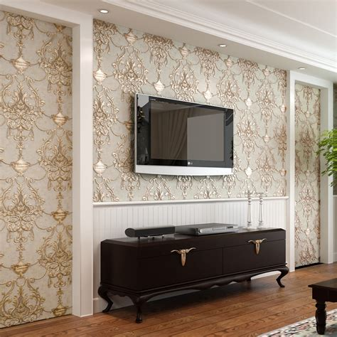 wall paper for room aliexpress buy wallpaper 3d embossed non woven