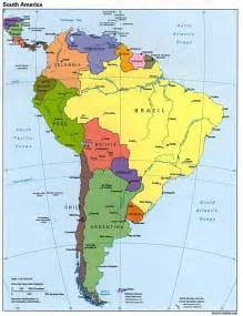 south america physical features map america