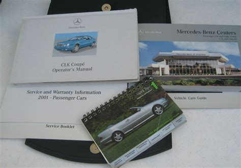 2001 mercedes benz clk 320 coupe owners manual clk320 01 w case ebay