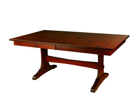 amish wasilla trestle dining table