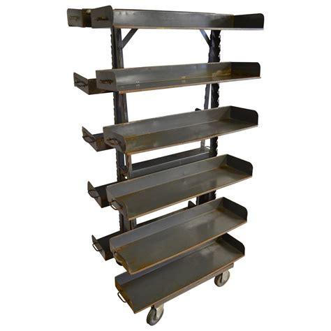 industrial a frame storage unit on wheels with adjustable