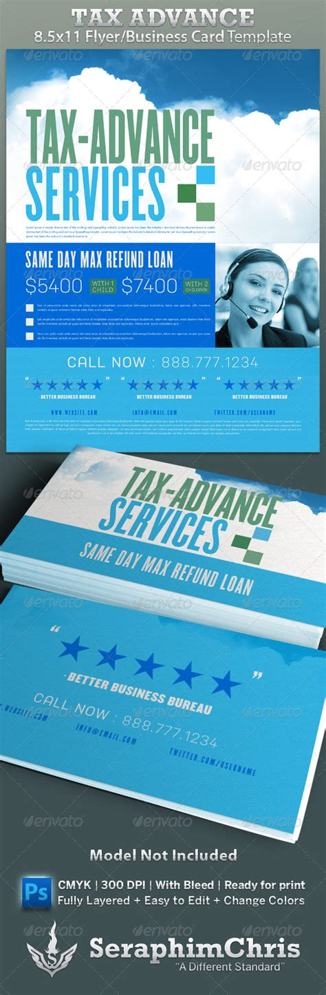 business card advertisement template tax preparation flyers templates 187 maydesk