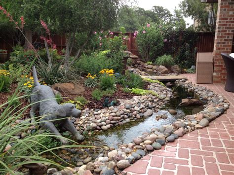 water feature garden landscaping elementos de agua