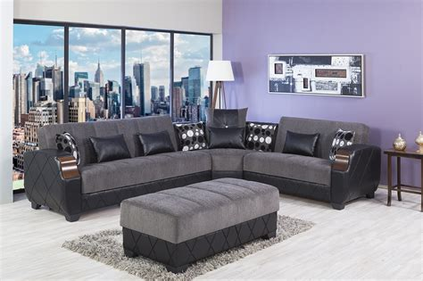 gray sectional with ottoman molina floket gray sectional sofa by casamode